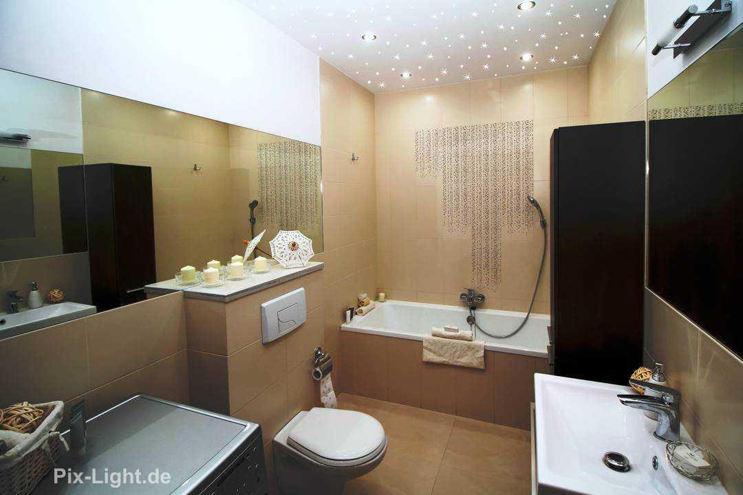 LED Sternenhimmel im Badezimmer von Pix-Light