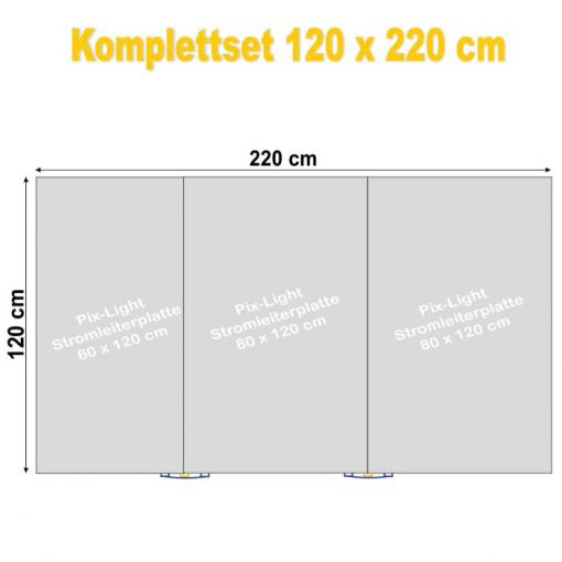 Pix-Light Komplettset 120 x 220 cm